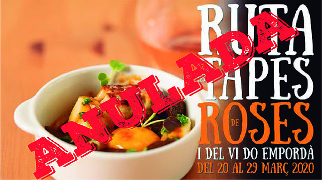 CANCELED!! Route tapas and wine DO Empordà Roses 2020
