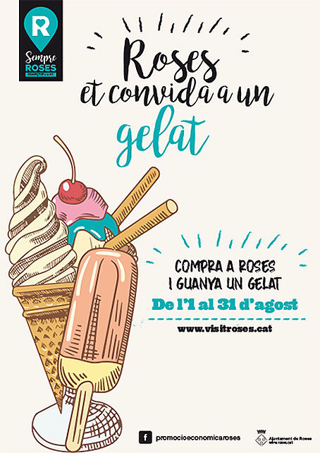 Between 1 and 31 August, Roses invites you to an ice cream