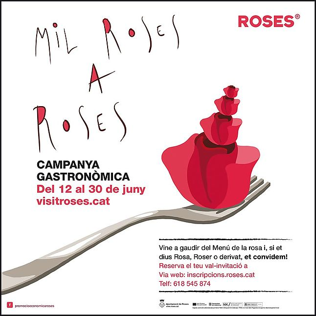1000 Roses gastronomic campaign in Roses